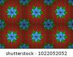 raster floral background. cute... | Shutterstock . vector #1022052052
