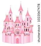 princess fairy tale fantasy... | Shutterstock .eps vector #1022067478