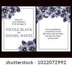 vintage delicate invitation... | Shutterstock .eps vector #1022072992