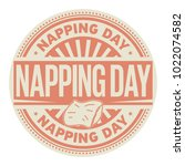Napping Day  Rubber Stamp ...