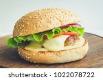 close up of homemade tasty... | Shutterstock . vector #1022078722
