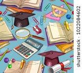 education seamless pattern | Shutterstock .eps vector #1022084602