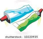 two colour paste tubes  | Shutterstock .eps vector #10220935