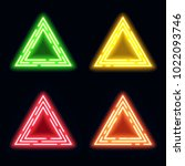 green yellow red orange neon... | Shutterstock . vector #1022093746