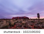 uluru  formerly ayer's rock  is ... | Shutterstock . vector #1022100202