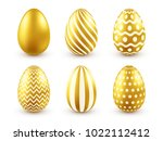 easter golden egg. traditional... | Shutterstock .eps vector #1022112412