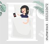 oversleep  conceptual...   Shutterstock .eps vector #1022122672