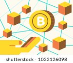investment on cryptocurrecny... | Shutterstock .eps vector #1022126098