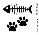 Fish Bone And Cat Paw Track....
