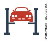 car service icon on white... | Shutterstock .eps vector #1022137156