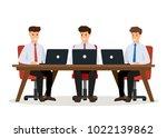business people meeting.... | Shutterstock .eps vector #1022139862