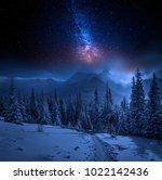 tatras mountains in winter at... | Shutterstock . vector #1022142436