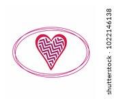 simple vector hearts icon | Shutterstock .eps vector #1022146138