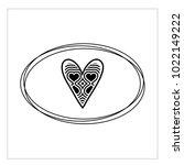 simple vector heart icon | Shutterstock .eps vector #1022149222