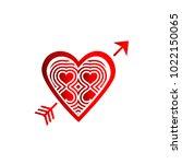 simple vector heart icon | Shutterstock .eps vector #1022150065