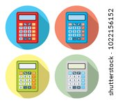 vector set of calculator icons | Shutterstock .eps vector #1022156152