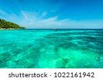wonderful turqoise sea at...   Shutterstock . vector #1022161942