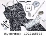 modern silver and black woman... | Shutterstock . vector #1022165938