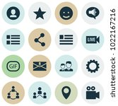 social icons set with live... | Shutterstock .eps vector #1022167216