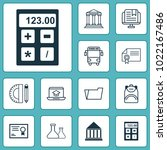 school icons set with academy...   Shutterstock .eps vector #1022167486