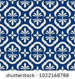 seamless pattern with floral... | Shutterstock .eps vector #1022168788