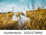 weed control. industrial...   Shutterstock . vector #1022173846