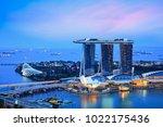 singapore city skyline ... | Shutterstock . vector #1022175436