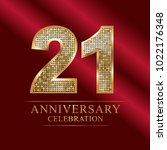 21 years anniversary... | Shutterstock .eps vector #1022176348