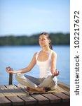 beautiful young girl training... | Shutterstock . vector #102217672