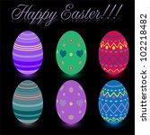 holiday easter egg  vector   Shutterstock .eps vector #102218482