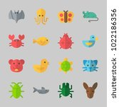 icons about animals with... | Shutterstock .eps vector #1022186356