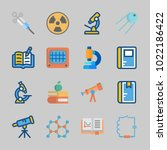 icons about science with open... | Shutterstock .eps vector #1022186422
