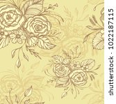 seamless pattern with flowers... | Shutterstock .eps vector #1022187115