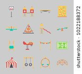 icons about amusement park with ... | Shutterstock .eps vector #1022188372