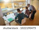 upper view of students in class ... | Shutterstock . vector #1022190475