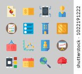 icons about business with... | Shutterstock .eps vector #1022191222