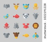 icons about animals with fish ...   Shutterstock .eps vector #1022191228