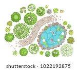 vector illustration. landscape... | Shutterstock .eps vector #1022192875