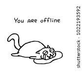 the upset cat tik lies in tears....   Shutterstock .eps vector #1022193592