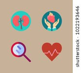 icons medical with magnifying... | Shutterstock .eps vector #1022193646