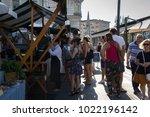 ljubljana  slovenia   august 18 ... | Shutterstock . vector #1022196142