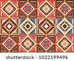 antique tiles. tribal vector... | Shutterstock .eps vector #1022199496