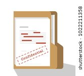 confidential and classified... | Shutterstock .eps vector #1022211358
