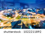 tunnel train track motion over... | Shutterstock . vector #1022211892