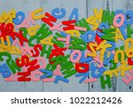 Small photo of Multicolored alphabetical letter