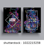creative posters template. hand ... | Shutterstock .eps vector #1022215258