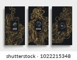luxury packaging templates.... | Shutterstock .eps vector #1022215348