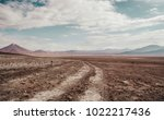 dirt track leading into the... | Shutterstock . vector #1022217436