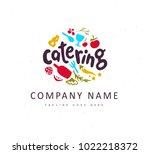 vector catering and restaurant... | Shutterstock .eps vector #1022218372