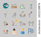 icons about human with worker ... | Shutterstock .eps vector #1022218876